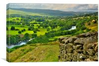 Teesdale View, Canvas Print