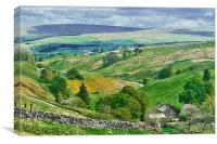 Durham Dales Countryside - Weardale, Canvas Print