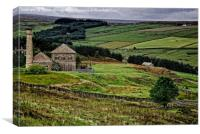 Old Pumphouse on Blanchland Moor, Canvas Print