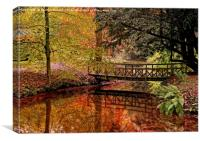 Autumn Reflections in the Stream, Canvas Print