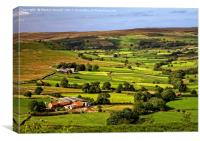 North York Moors Landscape Near Rosedale Abbey, Canvas Print