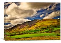Lake District Fells and Blencathra, Canvas Print