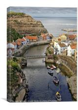 Staithes fishing village, Yorkshire Coast, Canvas Print