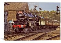 NYMR Steam Train at Grosmont Yorkshire, Canvas Print