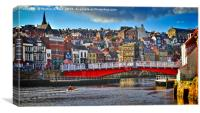 Whitby Town Panorama, Canvas Print