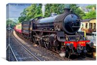 1264 Steaming out of Grosmont Station NYMR, Canvas Print