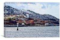 Agdenes Lighthouse and Ringflua Light Norway, Canvas Print