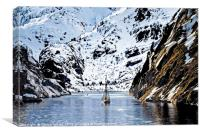 Sailing into Trollfjord Norway, Canvas Print