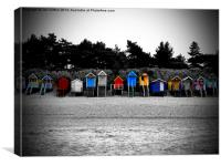 Wells Beach Huts, Canvas Print