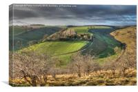 Yorkshire Wolds, Canvas Print