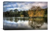 Helston Boating Lake, Canvas Print