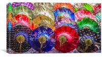 Brightly Coloured Paper Hats, Canvas Print
