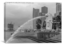 Merlion of Singapore City, Canvas Print