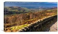 English Landscape - Peak District, Canvas Print