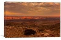 Fish River Canyon Sunset, Canvas Print