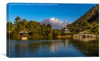 Black Dragon Lake, Lijiang, China, Canvas Print