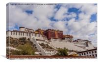 The Potala Palace in Tibet, Canvas Print