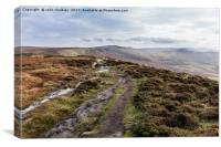 Peak District - Stanage Edge, Canvas Print
