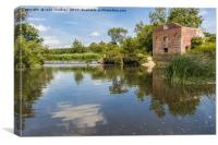 Reflections at Cutt Mill in Dorset, Canvas Print