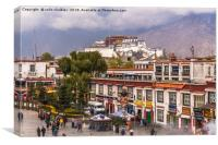 Potala Palace from the Jokhang Temple in Lhasa, Canvas Print