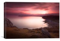 Pennard cliffs and Oxwich Bay, Canvas Print