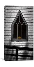 Canadian church window, Canvas Print