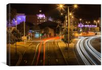 Oystermouth road Swansea, Canvas Print