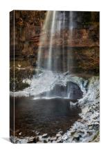 Henrhyd Falls in Winter, Canvas Print