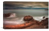 Rotherslade Bay and Donkey Rock, Canvas Print
