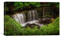 Above the Sgwd Isaf Clun-gwyn Waterfall, Canvas Print