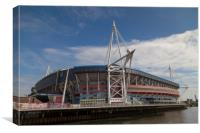 Welsh Rugby Union Stadium, Wales, Canvas Print