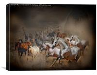 running with horses, Canvas Print