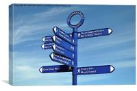 Typical seaside signpost, Canvas Print