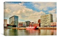 Old bar Lightship in Canning Dock East, Canvas Print