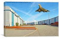 Deserted Industrial Estate on a sunny day, Canvas Print