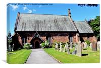Front View of Christ Church Willaston, Canvas Print