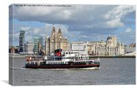Snowdrop on the River Mersey,, Canvas Print