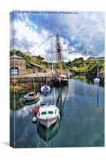 The Inner Amlwych Harbour, Canvas Print