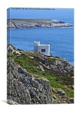 A pleasant spot on Anglesey's Coastal Path, Canvas Print