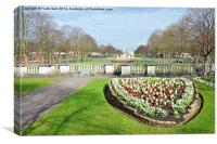 Hillsborough Memorial garden, Port Sunlight, Canvas Print