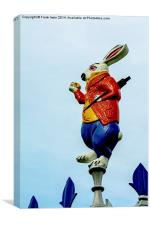 The March Hare from the themed bandstand, Canvas Print