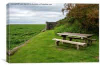 A quiet place, Wirral Country Park at Parkgate., Canvas Print