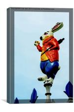 The March Hare in artistic format, Canvas Print