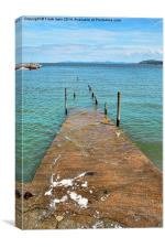 The Pier at Rhos-on-Sea, North Wales, Canvas Print