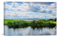 Wales pictured from Wirral, Canvas Print