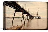 The River Mersey's Tranmere Oil Terminal Grunged, Canvas Print