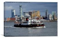 Mersey Ferry Royal Iris on the River Mersey, Canvas Print