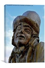 Llandudno's Tree carving of The Mad Hatter, Canvas Print