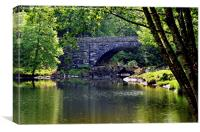An 'out of the way' bridge by Betws-y-Coed, Canvas Print