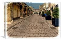 A typical road in Wetherby (Grunged effect), Canvas Print